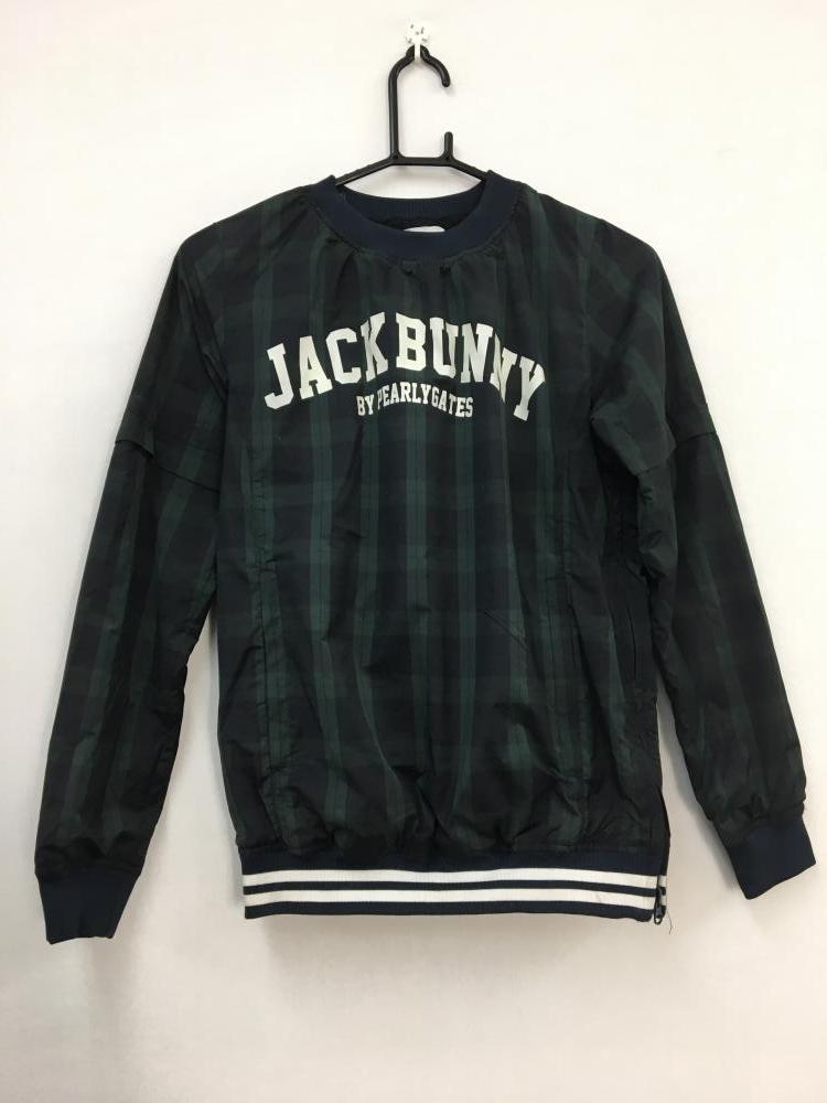 JACK BUNNY ジャックバニー スニード ブルゾン チェック柄 紺深緑 0 レディース